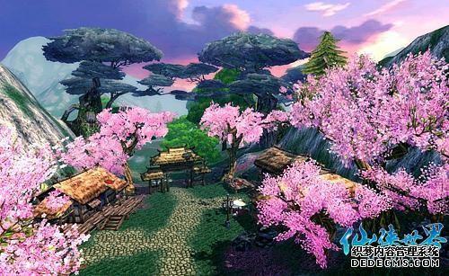 闲看庭前花开花落神曲私服庭院景观